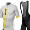 跨境专供新款mavic骑行服短袖背带套装山地自行公路服爆款批发