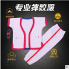 摔跤衣服男女中国式摔跤服跤衣褡裢红蓝白色加厚纯棉特价售卖