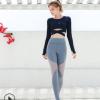 新款瑜伽套装修身跑步运动健身美背瑜伽上衣紧身提臀裤两件套
