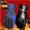 保暖皮手套男士冬季加厚防寒防滑大七户外运动滑雪骑行摩托车手套