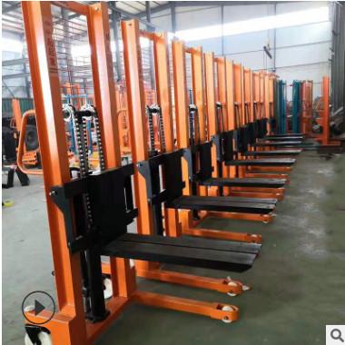 亚博体育app在线下载半电动堆高车2吨1吨半自动叉车小型装卸轻型升降堆高机堆高车