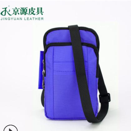 厂家直批户外运动多功能腰包尼龙多色斜挎包大容量防水大屏手机包