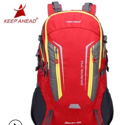 跨境新款钢架防水耐磨徒步旅行登山包野营户外运动双肩背包40L