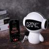 跨境爆款M100创意机器人时钟蓝牙音箱私模电子礼品多功能闹钟音响