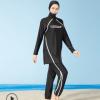 女士保守款分体式泳衣防晒衣套装浮潜衣套装