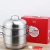 不锈钢二层三层蒸锅 礼品双层蒸锅 大容量两层汤蒸锅厨房锅具