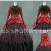 2019新款 lolita维多利亚哥特式长袖蓬蓬落地裙 棉料