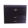 绒布绸缎多层首饰盒韩式珠宝盒耳环项链戒指收纳盒便携首饰盒收纳