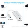 厂家USB采集卡HDMI TO USB3.0音视频采集卡,USB Capture 跨境爆款