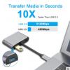 跨境专供type-c hub 转HDMI VGA 四合一集线器 USB-C多功能扩展坞