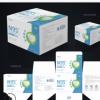 横款口罩盒定制KN95口罩纸盒白卡纸彩盒供应中英文口罩包装盒印刷