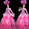 新款定制开场舞大摆裙成人演出服大气伴舞舞蹈服装女连衣裙蓬蓬裙