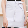 围裙定制logo印字酒店半截短款女定做厨师服务员半身围腰BB平台男