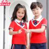 幼儿园园服新款2019学生运动套装学校校服短袖六一儿童节表演班服