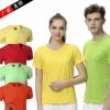 纯棉圆领短袖广告衫T恤定制企业活动文化衫班服diy工作衣服印LOGO