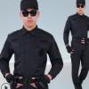 新式长袖保安服春秋套装酒店物业BB平台男保安作训服全套黑色制服