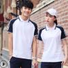 夏季短袖运动校服 中学生翻领棉质纯色班服初中体育课运动套装
