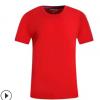 纯棉圆领短袖T恤定制空白批发班服文化广告衫团体服diy订做印logo