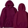 男女纯色卫衣 休闲运动卫衣男时尚套头卫衣厂家批发涤纶加绒卫衣