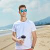 夏季短袖空白广告文化衫圆领白T恤衫纯棉体恤衫可印字