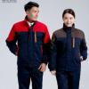 冬季反光条BB平台棉服男女常规款加厚棉衣棉袄汽修劳保工程服
