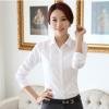 加绒加厚韩版衬衫女长袖白衬衫学生职业女装大码长短诺依念