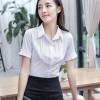 施柏阁白衬衫女短袖职业上衣短袖正装修身衬衣韩范女装OL寸 衬衫