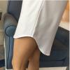 2018春装新款bf风白衬衫女宽松显瘦大码韩版中长款衬衣女装上衣潮