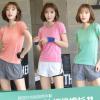 2020新款运动套装女春夏韩版短袖上衣跑步运动户外健身服两件套女