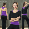 新款瑜伽服初学者跑步三件套专业健身长袖宽松性感大码运动服套装