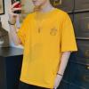 2人组夏季新款纯棉男式短袖T恤上衣韩版潮流男潮牌半袖休闲打底衫