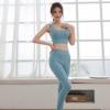 瑜伽服运动套装女夏2020新款健身服套装速干背心提臀瑜伽裤两件套