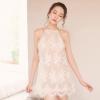 新款情趣内衣水溶花蕾丝刺绣睡衣女式诱惑套装吊带睡裙