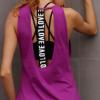 性感美背罩衫运动背心女 瑜伽健身运动跑步透气 速干背心女批发