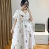 孕妇装夏季连衣裙2020中长款个性哺乳夏天裙子小碎花洋气辣妈夏装