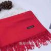2019秋冬季韩版单色保暖披肩 年会庆典仿羊绒大红围巾定制logo