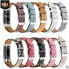 适用于Fitbit charge3手表头层牛皮真皮替换手腕带charge3皮带