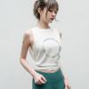 时尚印花LOGO无袖运动背心透气健身跑步上衣宽松宽肩瑜伽罩衫