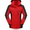 厂家直销户外男女情侣冲锋衣三合一两件套可拆卸防风防水登山服
