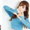 欧美镂空透气网孔长袖运动t恤 圆领速干排汗休闲瑜伽健身上衣批发
