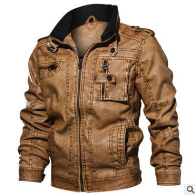 厂家直销秋冬季新款男士立领pu皮外套大码休闲皮衣夹克休闲机车