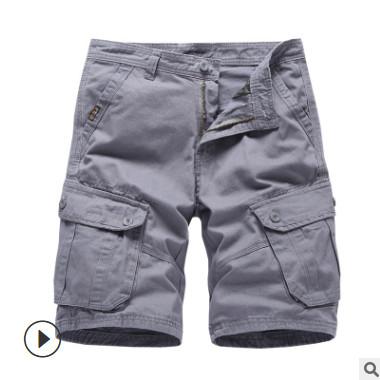 夏季新款男士纯棉水洗中腰直筒5分裤大码休闲百搭短裤虾皮泰国