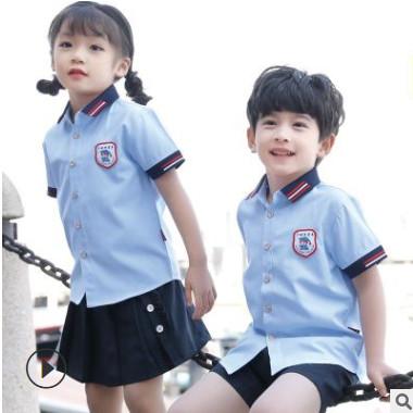幼儿园园服2020新款衬衫连衣裙中小学生校服班服六一演出礼服套装