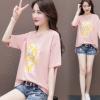 短袖t恤女2020夏装新款女装 网红ins超火韩版宽松字母半袖上衣服