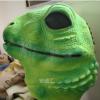 万圣节成人乳胶动物面具变色龙巨型蜥蜴演出COS头套 动物可爱面具