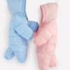 蓓哆熊品牌童装 新品上市加厚保暖法拉绒柔软里衬纯色婴儿哈衣爬