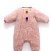 蓓哆熊童装秋冬时尚新款加厚保暖毛毛绒超柔绒里衬婴儿连体衣冬季