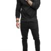 201外贸新款欧美潮款男士运动套装手臂拉链装饰健身休闲服