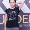 夏新款运动短袖上衣女 透气夜跑字母瑜伽服t恤 户外跑步健身速干T