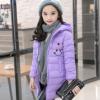 女童中长款棉衣2018新款冬装加厚中大儿童羽绒棉服外套女孩棉袄